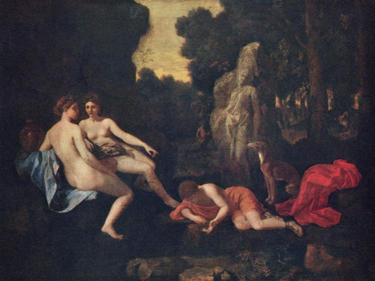 Narcissus and Echo, 1650 - Nicolas Poussin