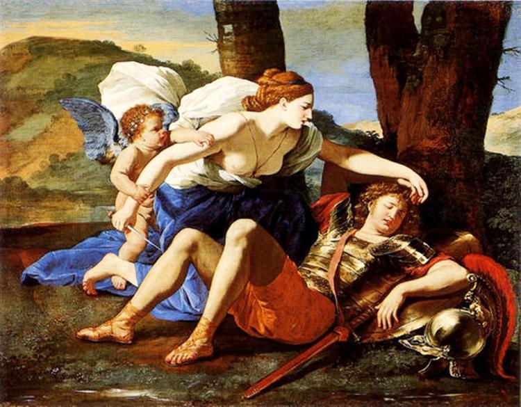 Rinaldo and Armida, c.1625 - Nicolas Poussin