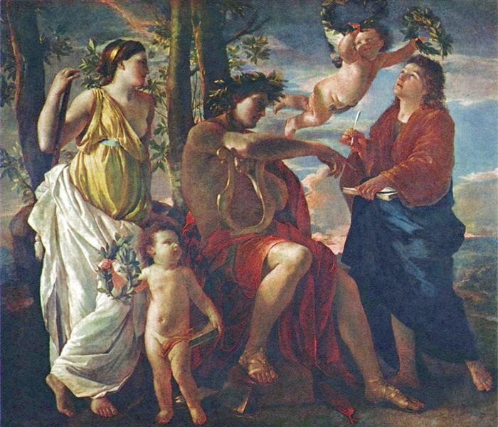 The Poet's Inspiration, c.1629 - 1630 - Nicolas Poussin