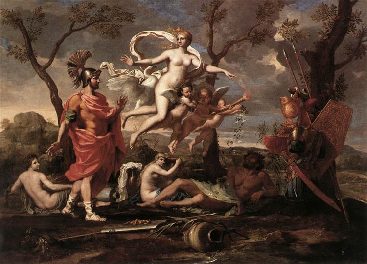 Venus Presenting Arms to Aeneas, 1639 - Nicolas Poussin