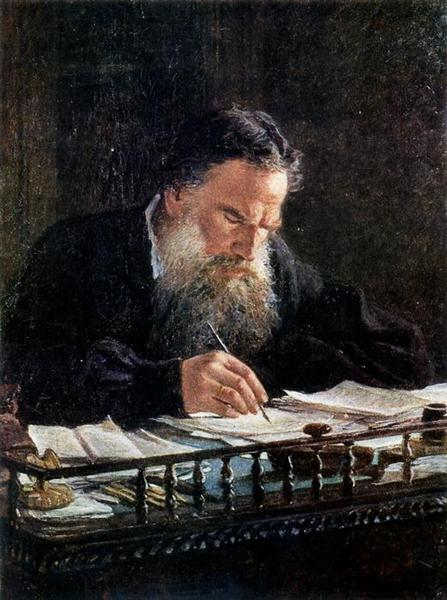 Portrait of Leo Tolstoy, 1884 - Nikolai Ge
