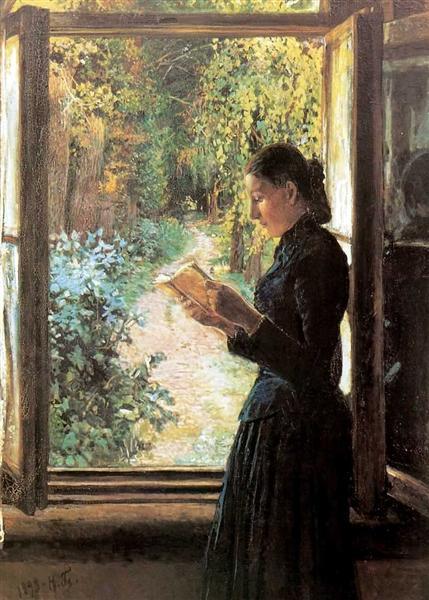 Portrait of Natalia Petrunkevich, 1892 - Nikolai Nikolajewitsch Ge