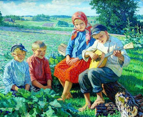 Little Concert with Balalaika - Nikolay Bogdanov-Belsky