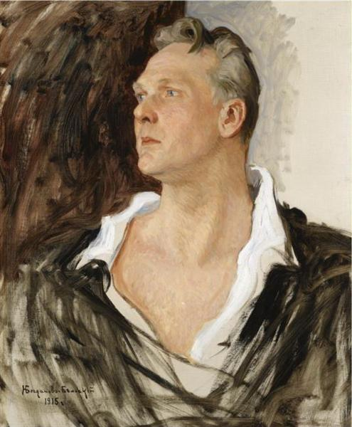 Portrait of Feodor Chaliapin - Nikolay Bogdanov-Belsky
