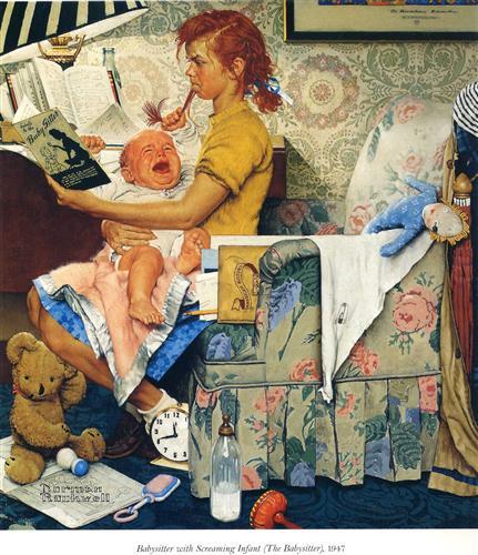 Babysitter - Norman Rockwell