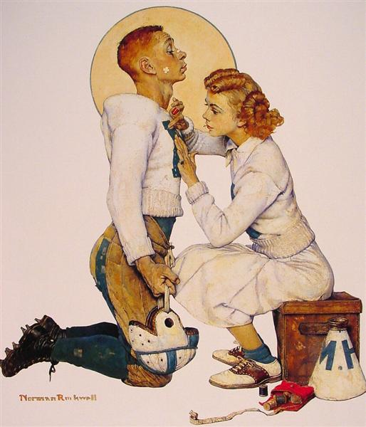 Football Hero, 1955 - Norman Rockwell