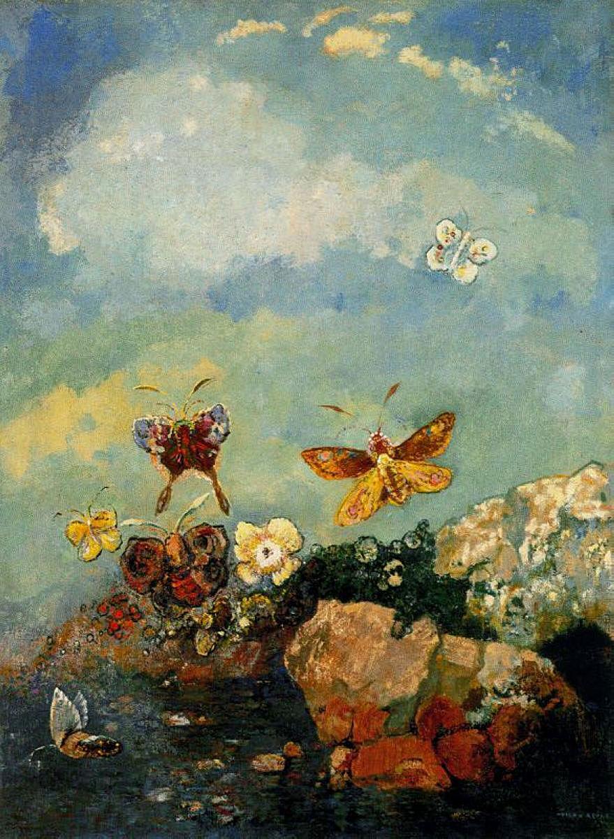 Butterflies Odilon Redon Wikiart Org