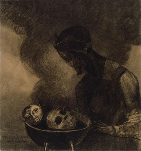 Cauldron of the Sorceress, 1879 - Odilon Redon