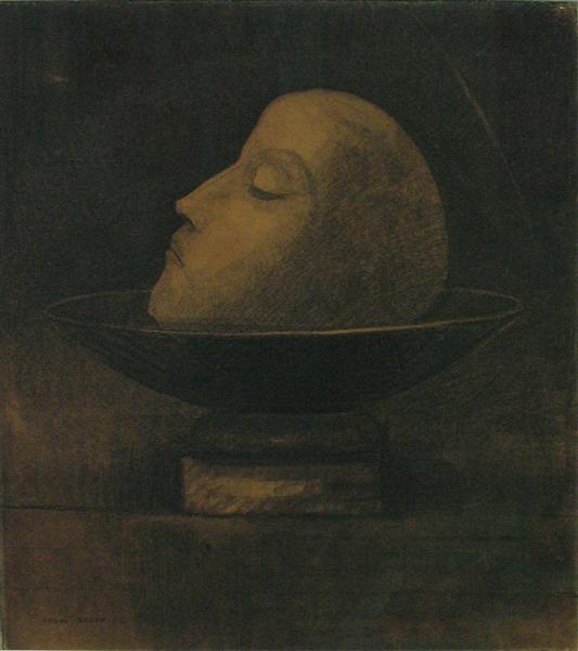 Head of a martyr, 1877 - Odilon Redon