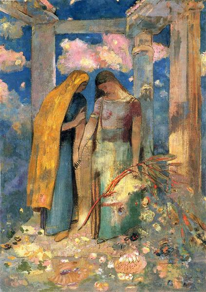 Mystical Conversation, c.1896 - Odilon Redon