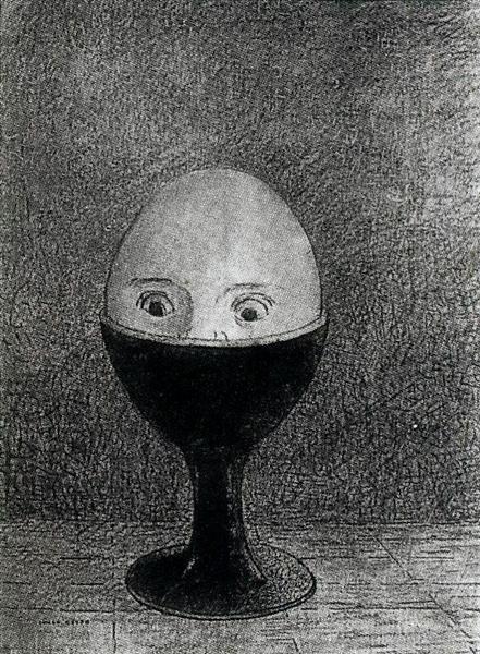 The Egg, 1885 - Odilon Redon