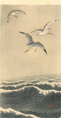Seagulls over the Waves - Ohara Koson