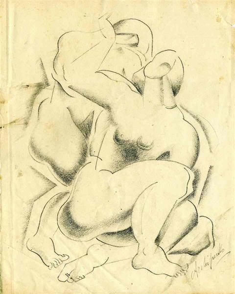 Two nude female figures - Archipenko Olexandr