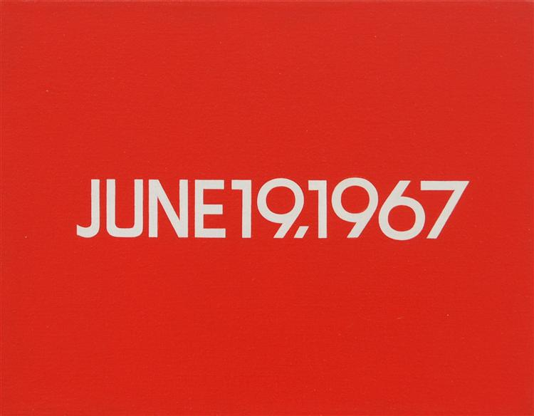June 19, 1967 (from Today Series, No. 108) - On Kawara