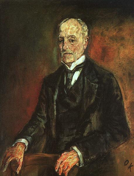Portrait of Commerce Counselor Ebenstein, 1908 - Oskar Kokoschka