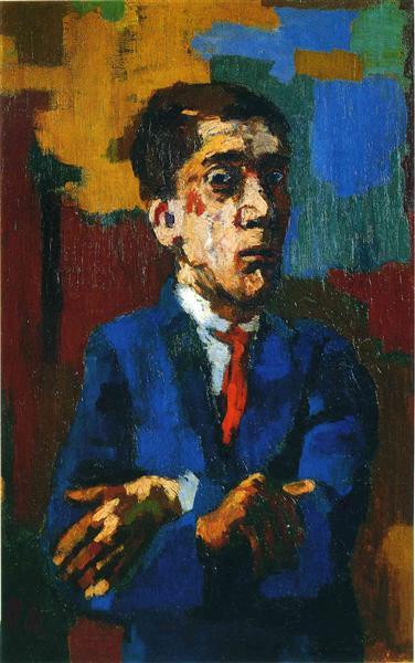 Self Portrait with Crossed Arms, 1923 - Oskar Kokoschka
