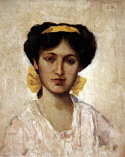 Girl with Yellow Ribbon - Osman Hamdi