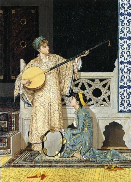 The Musician Girl, 1880 - Osman Hamdi