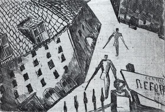 BarracksClignancourt, 1919 - Ossip Zadkine