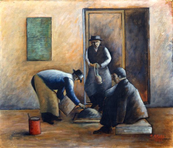 I muratori (Operai), 1933 - Ottone Rosai