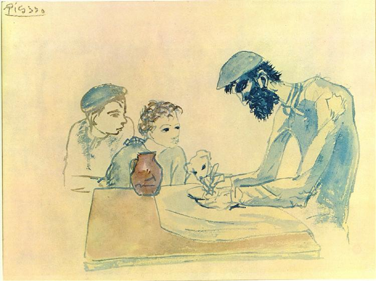 A simple meal - Pablo Picasso