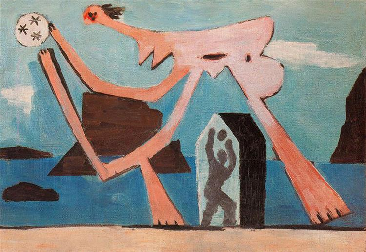 Ballplayers on the beach, 1928 - Pablo Picasso