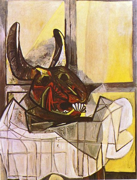 Excellent Bull's head on the table, 1942 - Pablo Picasso - WikiArt.org KO31