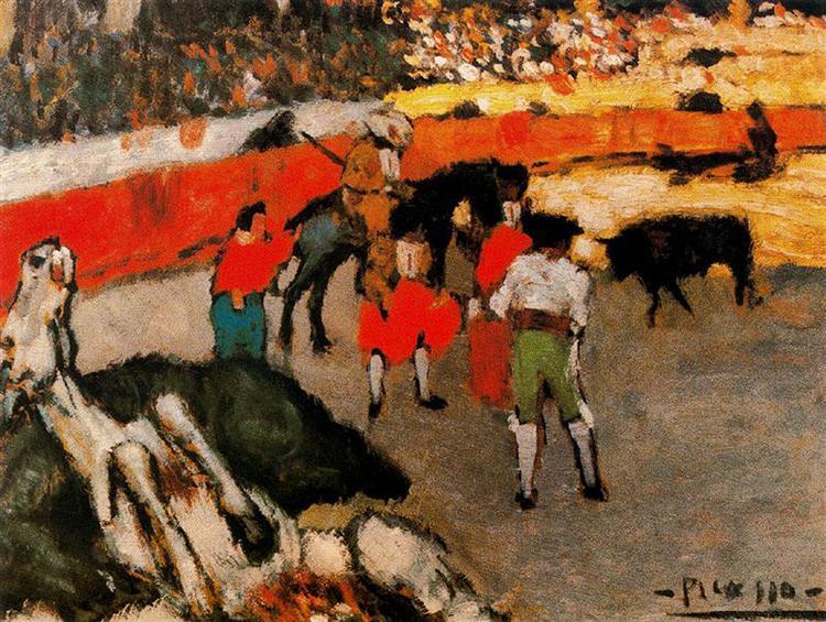 Bullfight scene, 1901 - Pablo Picasso
