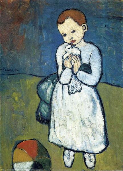 Child with dove - Pablo Picasso