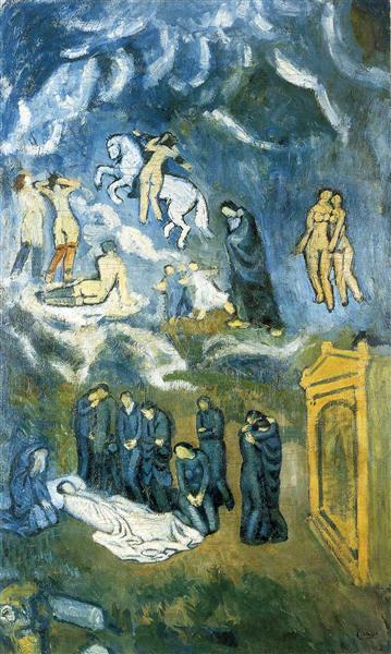 Evocation (The Burial of Casagemas), 1901 - Pablo Picasso