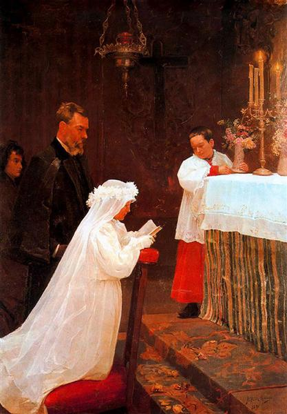 First Communion, 1896 - Pablo Picasso
