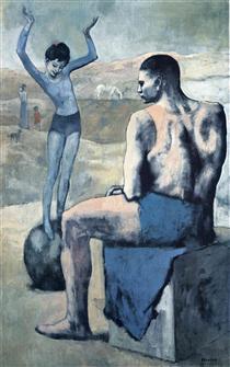 Ragazza sulla palla - Pablo Picasso