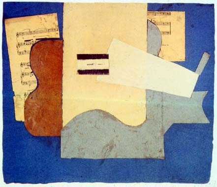 Guitar and sheet of music - Pablo Picasso