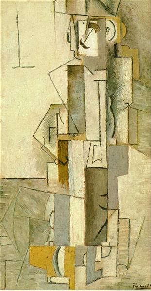 Harlequinesque personage, 1913 - Pablo Picasso