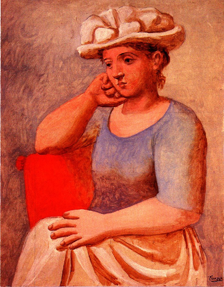 Leaning woman with bonnet, 1921