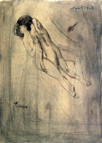 Lovers, 1904 - Pablo Picasso