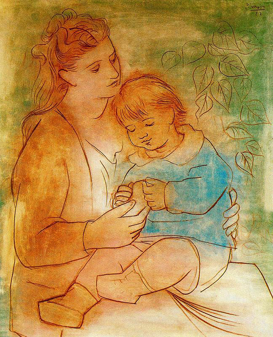Image result for pablo picasso MOTHER AND CHILD
