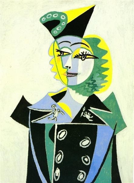 Portrait of Nusch Éluard, 1937 - Пабло Пикассо