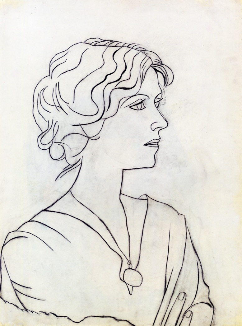 Line Drawing By Pablo Picasso : Portrait of olga pablo picasso wikiart