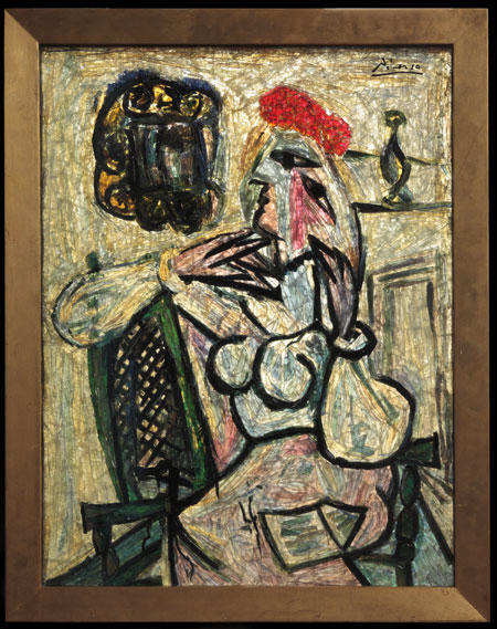 Seated Woman with Red Hat, c.1954 - c.1956 - Pablo Picasso