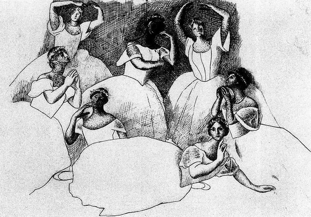 Seven ballerinas, 1919