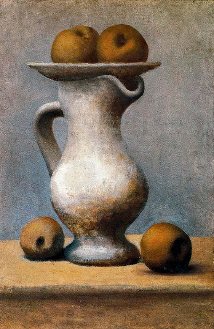 Still life with pitcher and apples, 1919