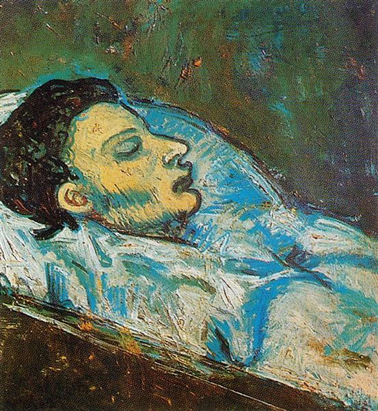 The death of casagemas 1901 pablo picasso for Picasso painting names