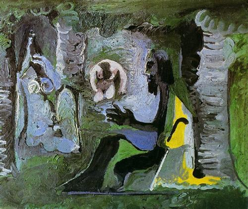 The luncheon on the grass pablo picasso for Dejeuner sur l herbe vaisselle