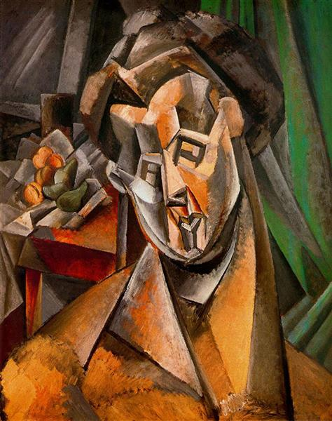 Woman and pears (Fernande), 1909 - Pablo Picasso