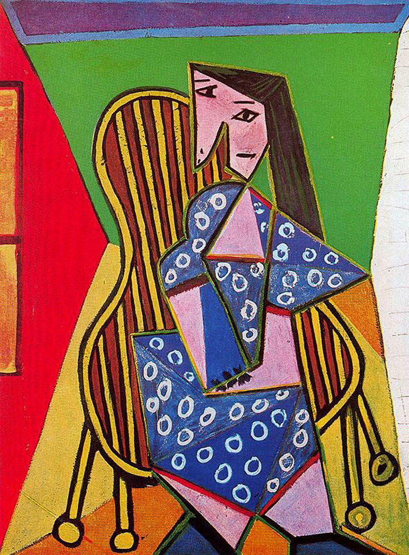 woman in striped armchair, 1941 - pablo picasso - wikiart
