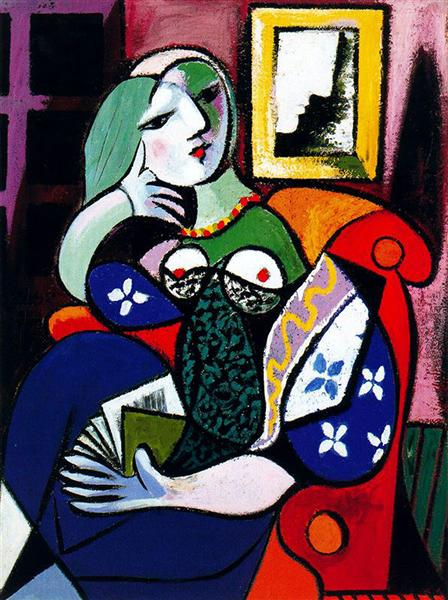 Woman with book, 1932 - Pablo Picasso
