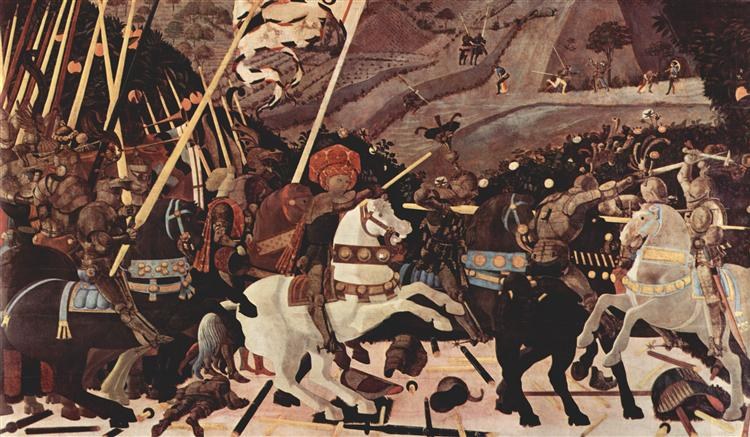 The Battle of San Romano, c.1438 - 1440 - Paolo Uccello