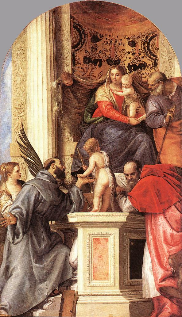 a report on the giotta madonna enthroned painting The christ child on the madonna's lap does not look in the least like a baby or child, which was typical for this period because the artist cimabue didn't bring in a model of a child to understand how a baby/child looks.
