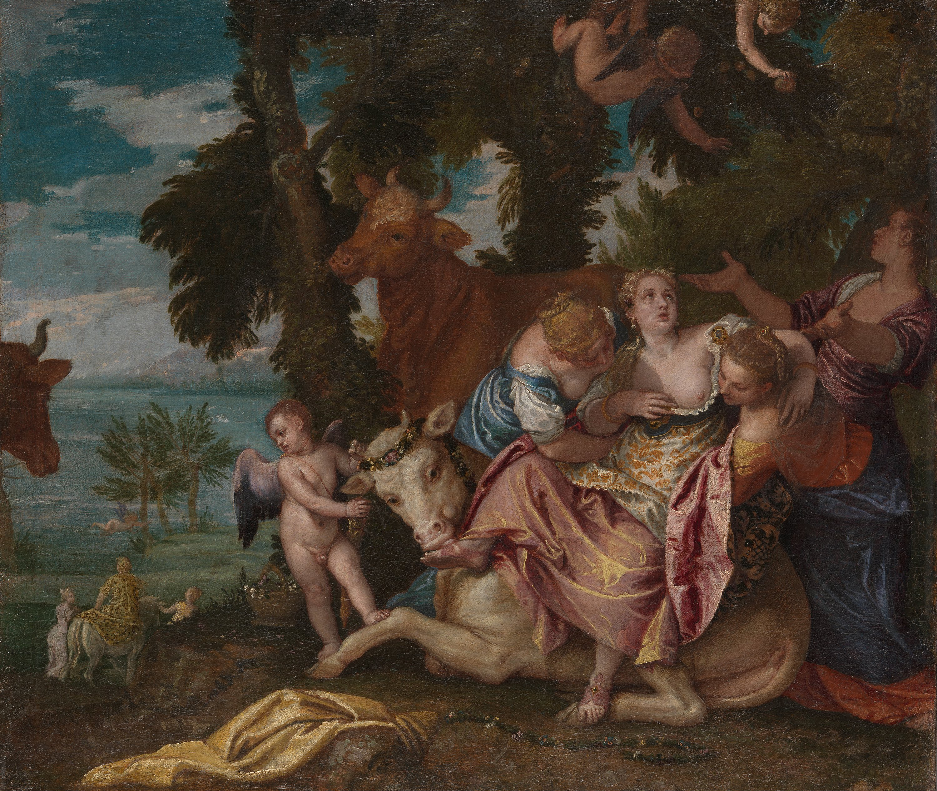 The Rape of Europa - Paolo Veronese - WikiPaintings.